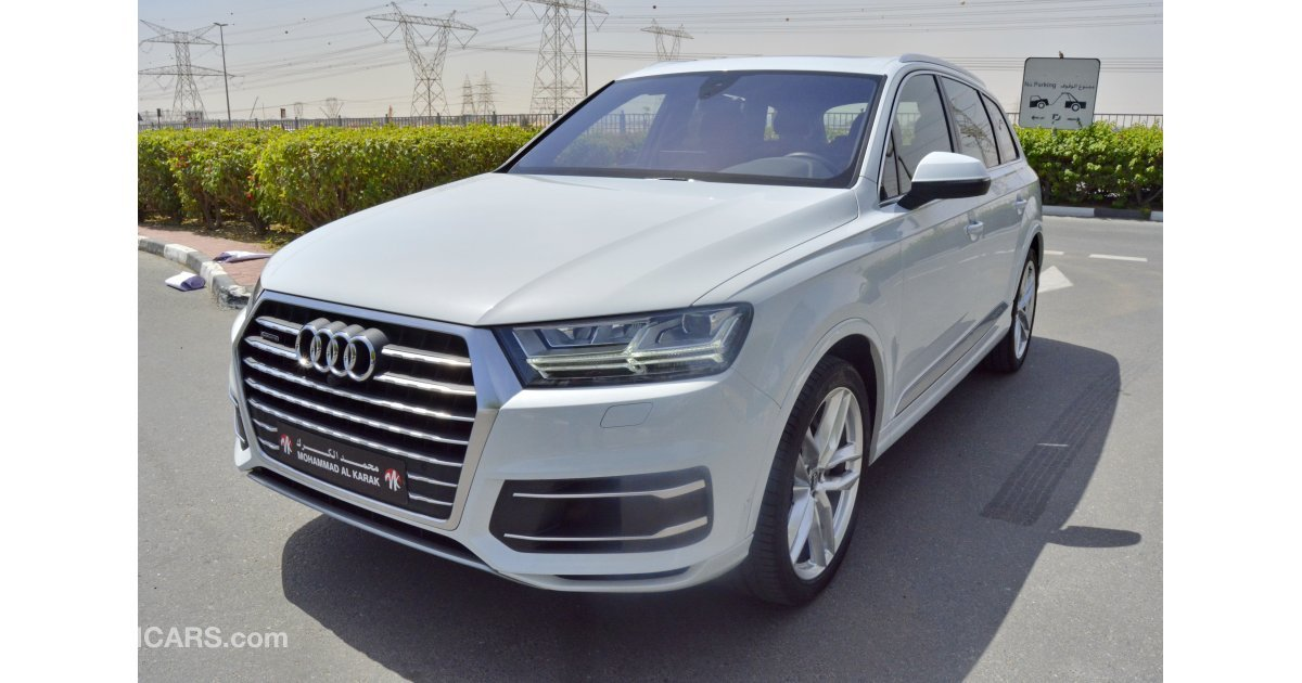 audi q7 for sale aed 217 000 white 2016. Black Bedroom Furniture Sets. Home Design Ideas
