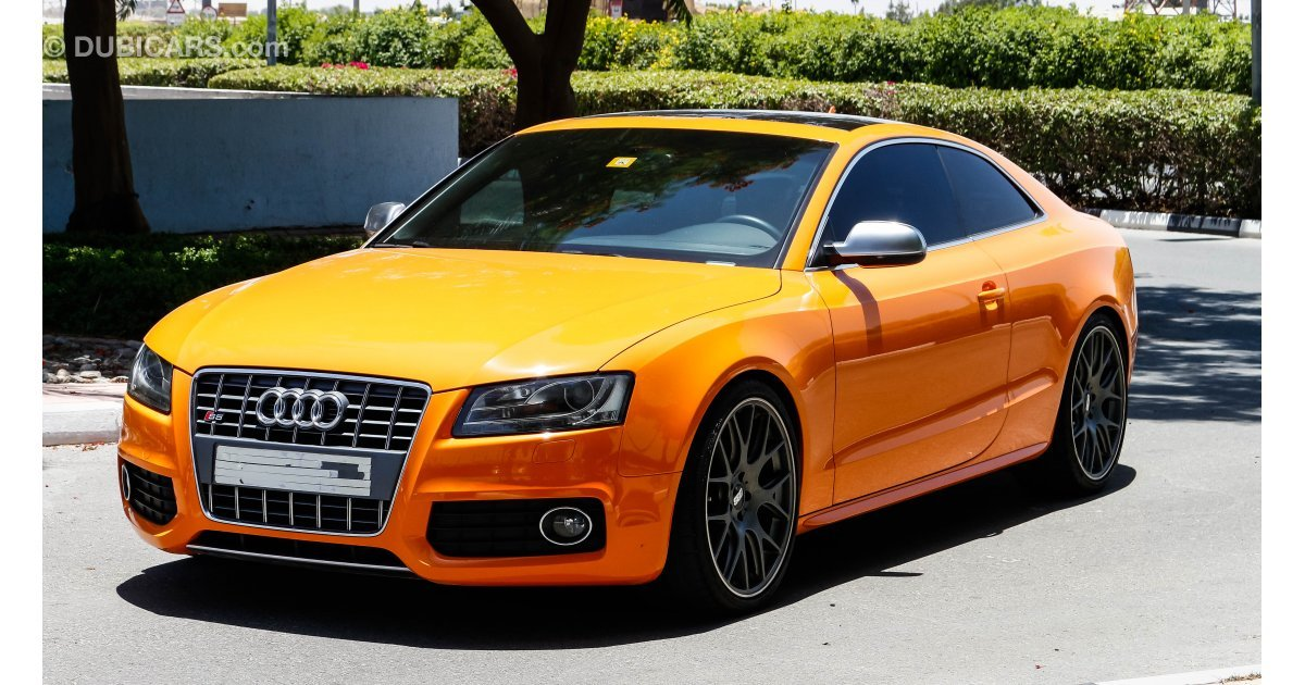 audi s5 quattro mt6 coupe for sale aed 85 000 orange 2011. Black Bedroom Furniture Sets. Home Design Ideas