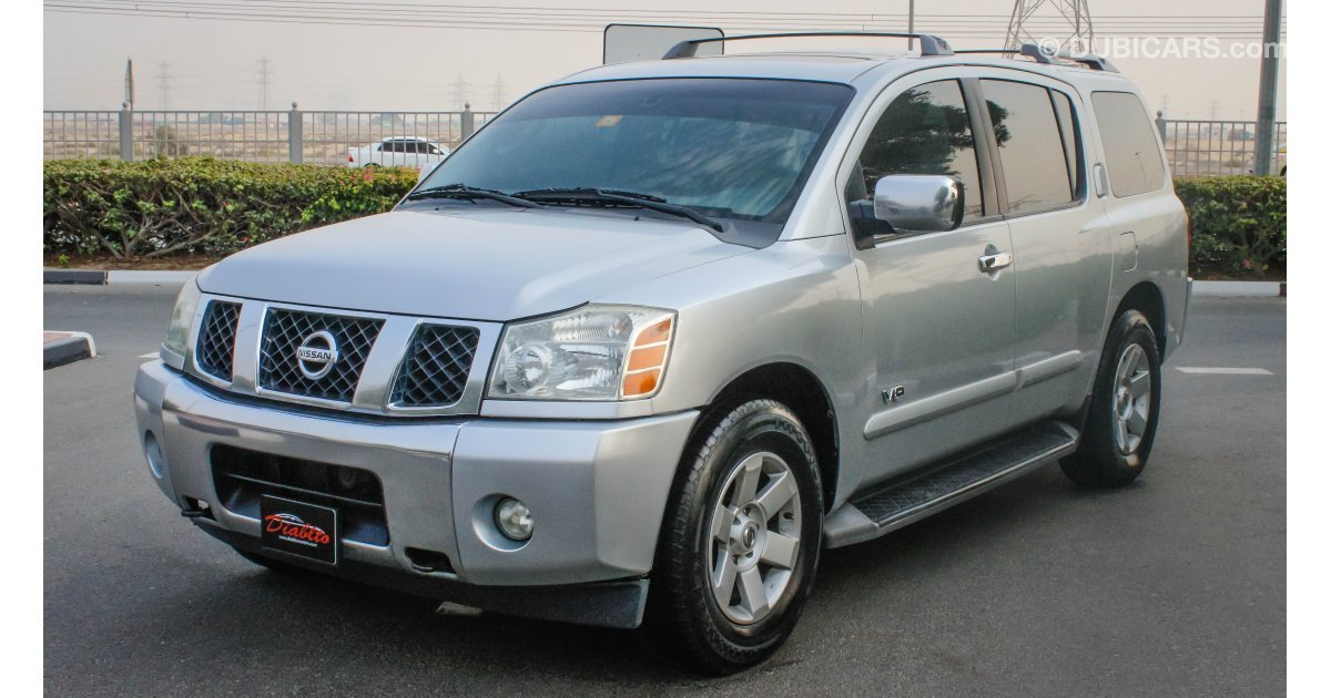 nissan armada le for sale aed 26 000 grey silver 2006. Black Bedroom Furniture Sets. Home Design Ideas