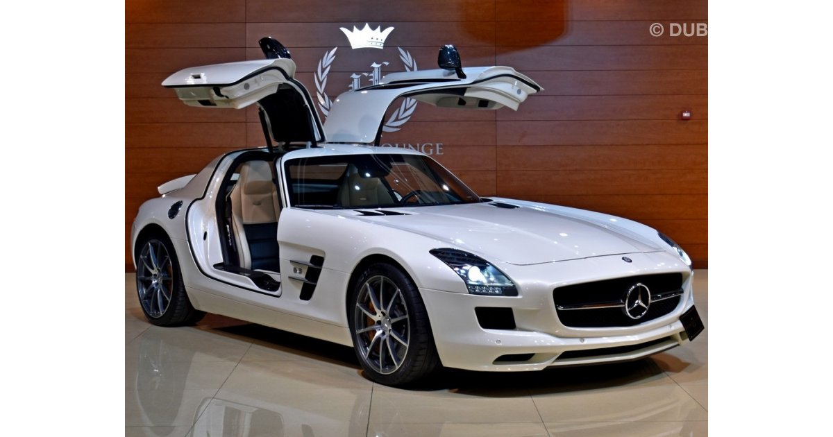 mercedes benz sls amg for sale aed 475 000 white 2012. Black Bedroom Furniture Sets. Home Design Ideas