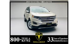 Ford Edge GCC / SEL LEATHER / AWD / EcoBoost / 2017 / DEALER WARRANTY 11/04/2022 / FSH / 1,207 DHS P.M.