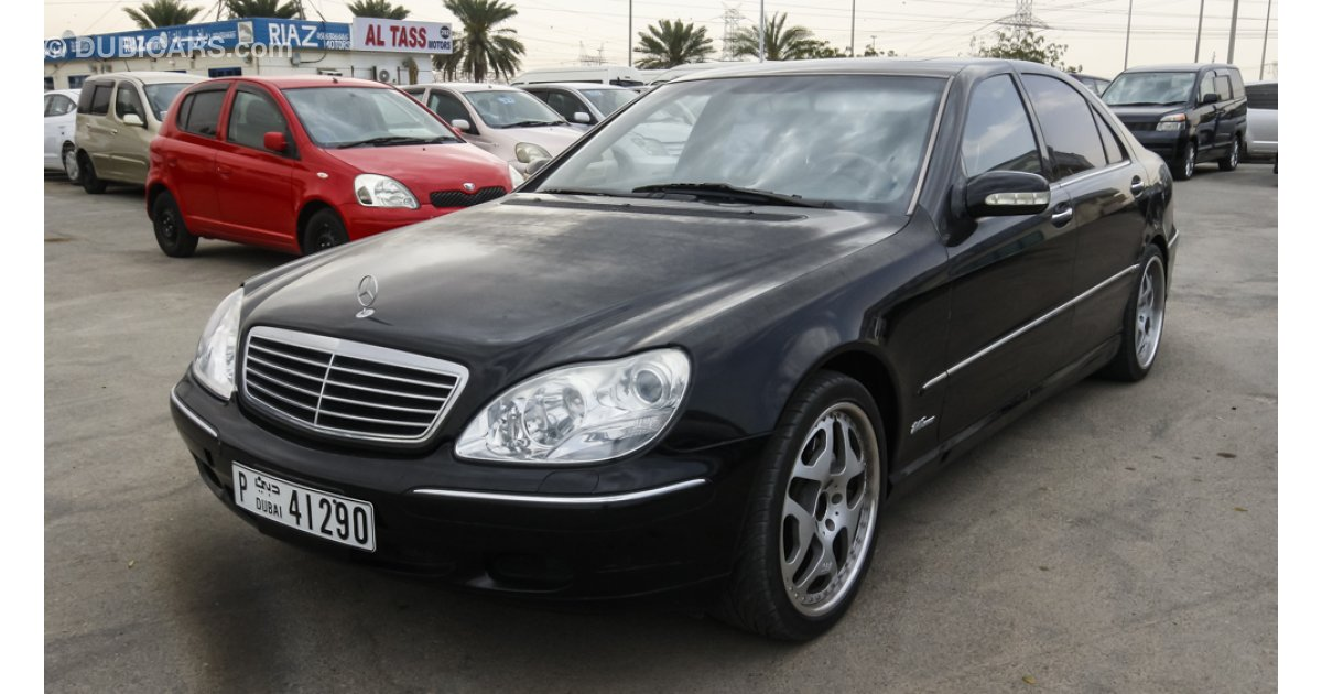 Mercedes benz s 500 for sale aed 18 000 black 2004 for C 500 mercedes benz for sale