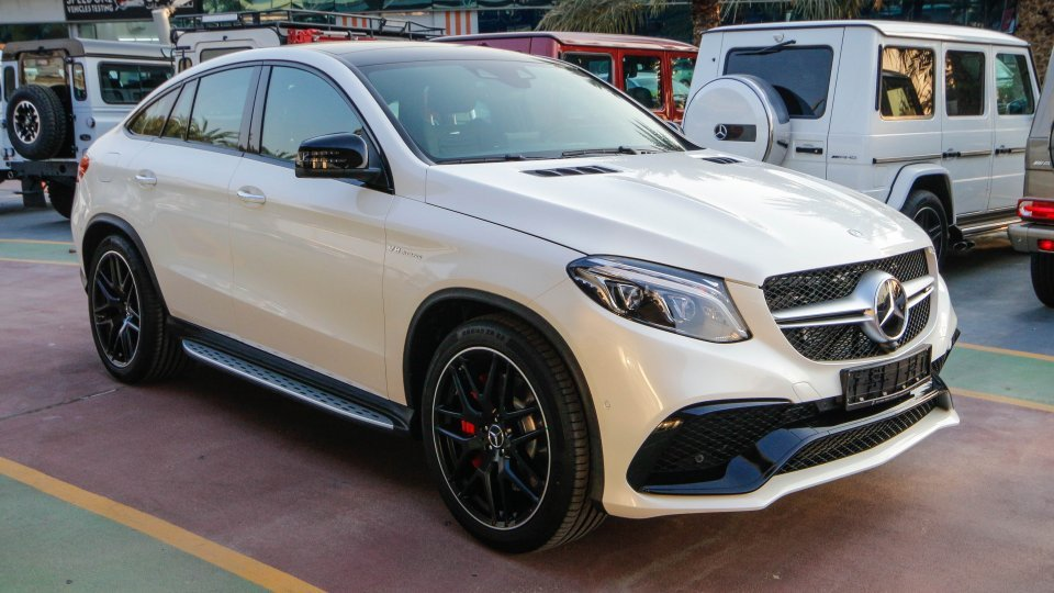 mercedes benz gle 63 amg s for sale aed 545 000 white 2018. Black Bedroom Furniture Sets. Home Design Ideas