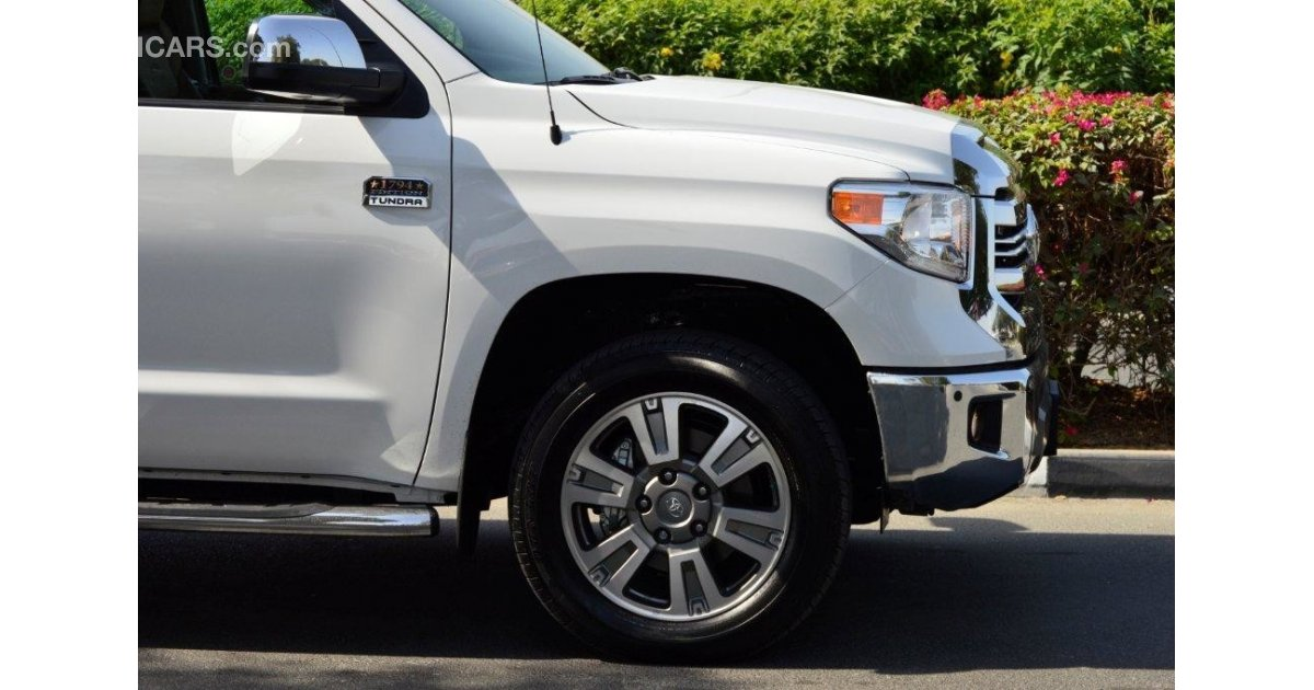 Toyota Tundra Double Cab 1794 Platinum Edition 5 7l 4wd For Sale Aed 190 000 White 2017