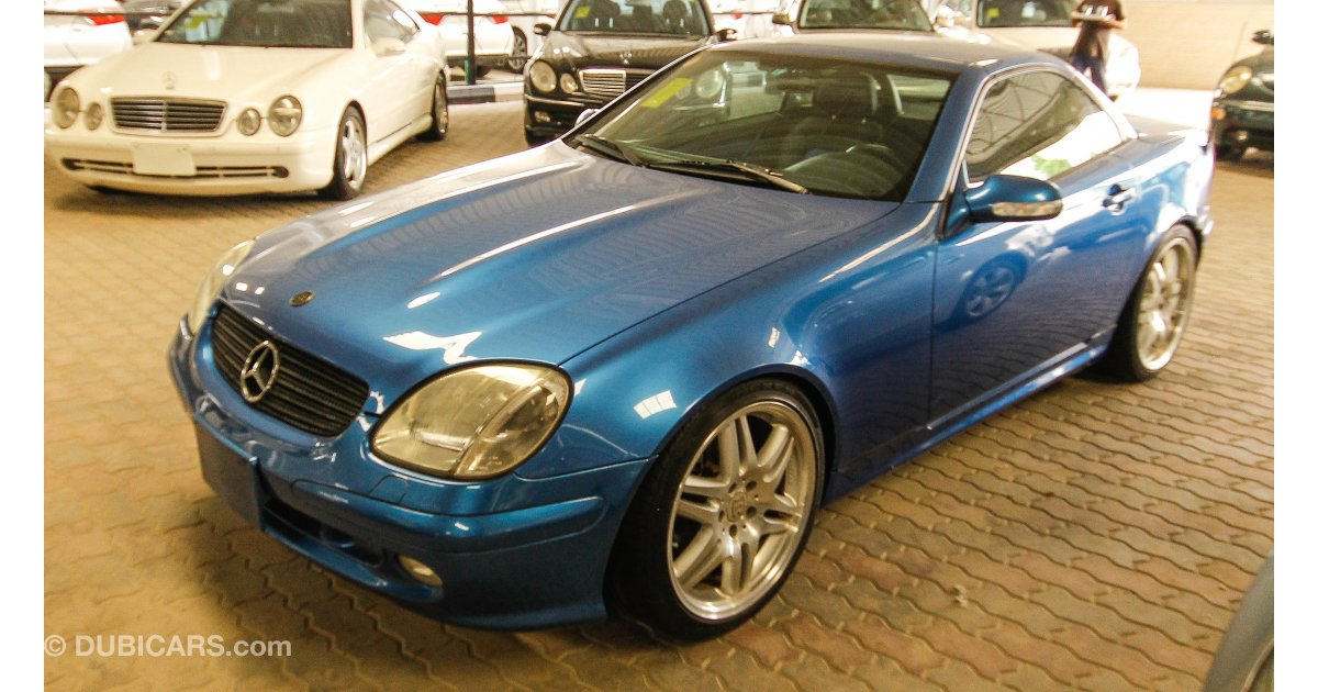 mercedes benz slk 320 with brabus body kit for sale aed 25 000 blue 2001. Black Bedroom Furniture Sets. Home Design Ideas