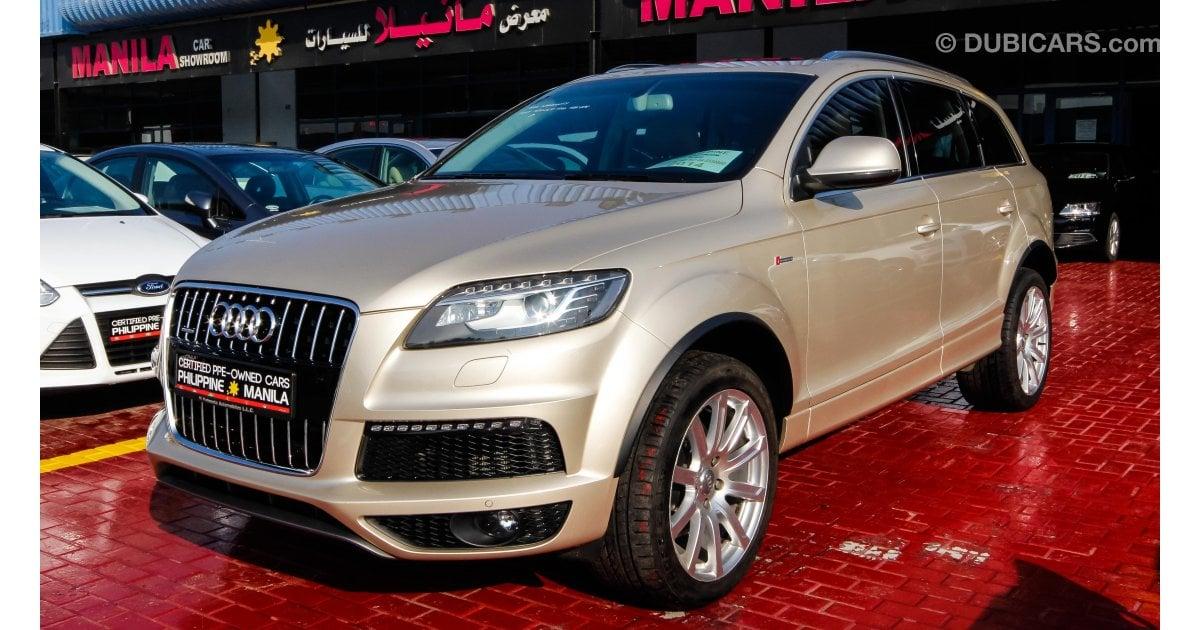 Audi Q7 Quattro for sale: AED 139,500. Gold, 2014
