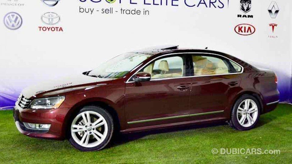 Volkswagen Passat Full Option Full Service History for sale: AED 41,500. Burgundy, 2014