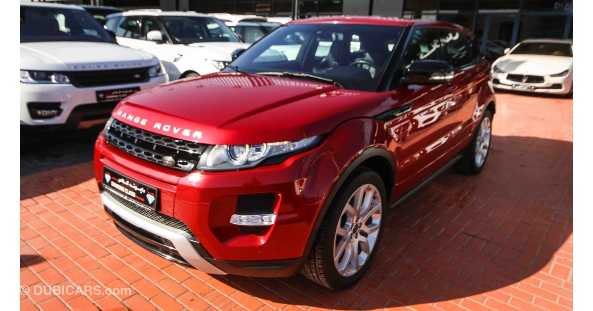 land rover range rover evoque for sale aed 119 000 red 2013. Black Bedroom Furniture Sets. Home Design Ideas