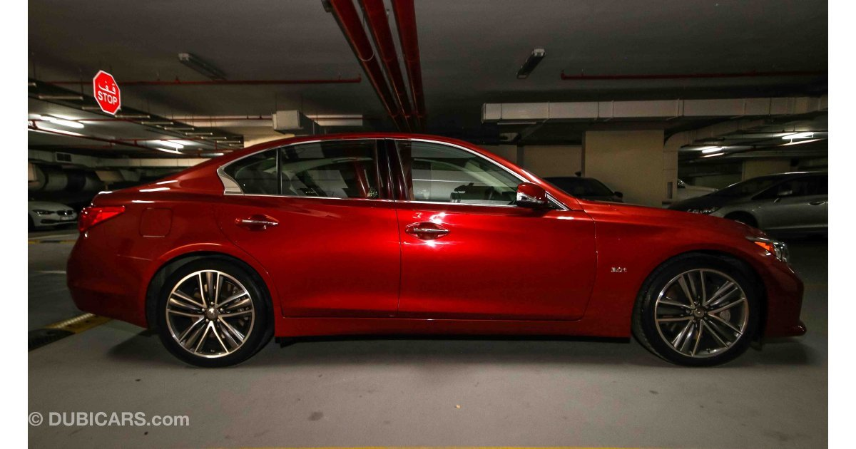 Infiniti Q50 For Sale Aed 145 900 Red 2017