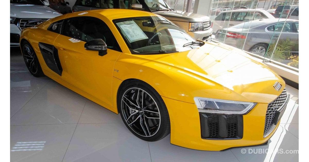 Audi R8 V 10 Quattro For Sale Aed 539 000 Yellow 2016