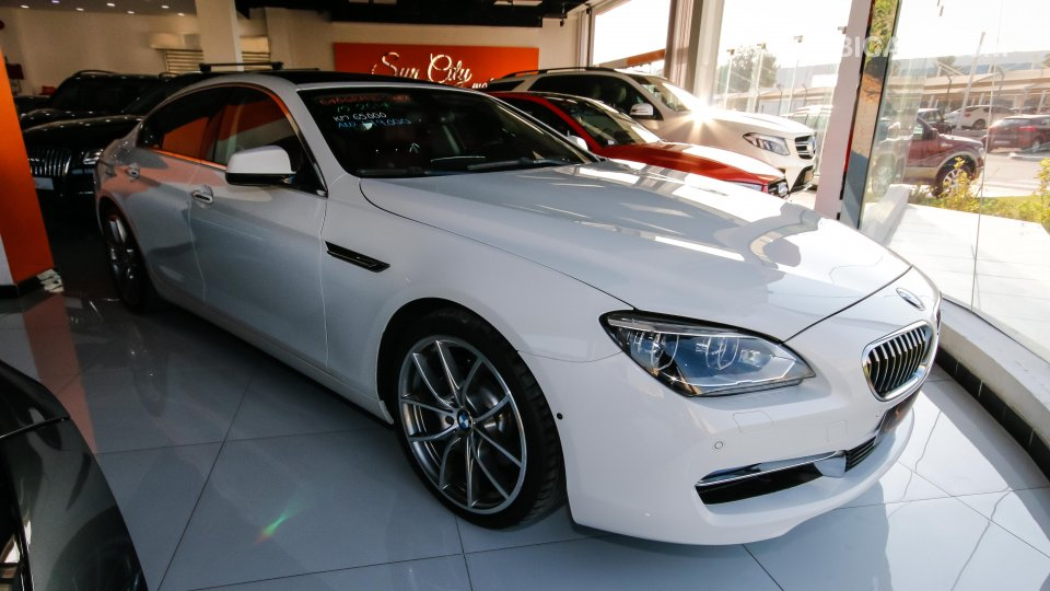 BMW 640 i Gran Coupe for sale AED 179 000 White 2014