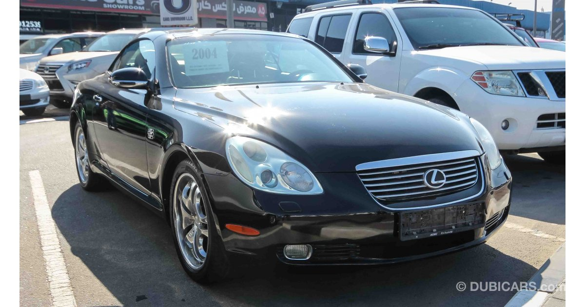 lexus sc 430 for sale aed 35 000 black 2004. Black Bedroom Furniture Sets. Home Design Ideas