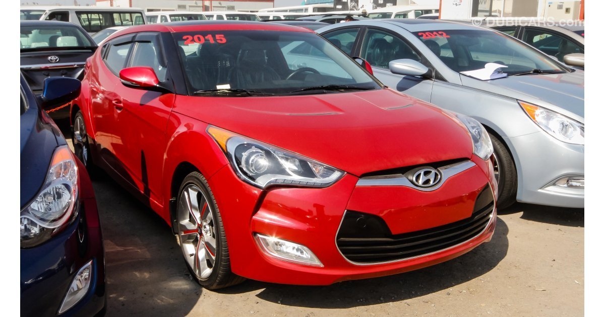 hyundai veloster for sale aed 44 000 red 2015. Black Bedroom Furniture Sets. Home Design Ideas