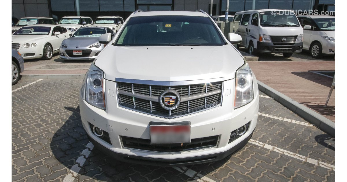 cadillac srx 4 for sale aed 65 000 white 2012. Black Bedroom Furniture Sets. Home Design Ideas