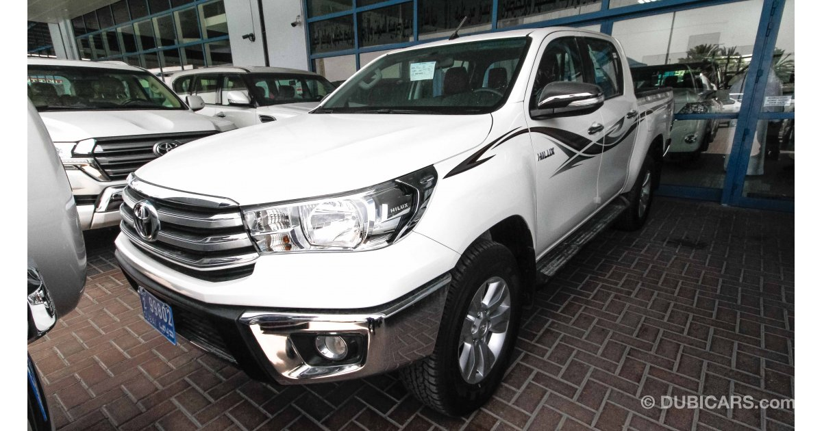 toyota hilux glx srs for sale aed 93 000 white 2017. Black Bedroom Furniture Sets. Home Design Ideas