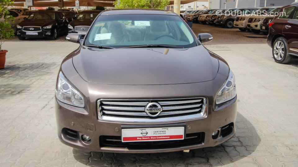 nissan maxima for sale aed 85 900 brown 2015. Black Bedroom Furniture Sets. Home Design Ideas