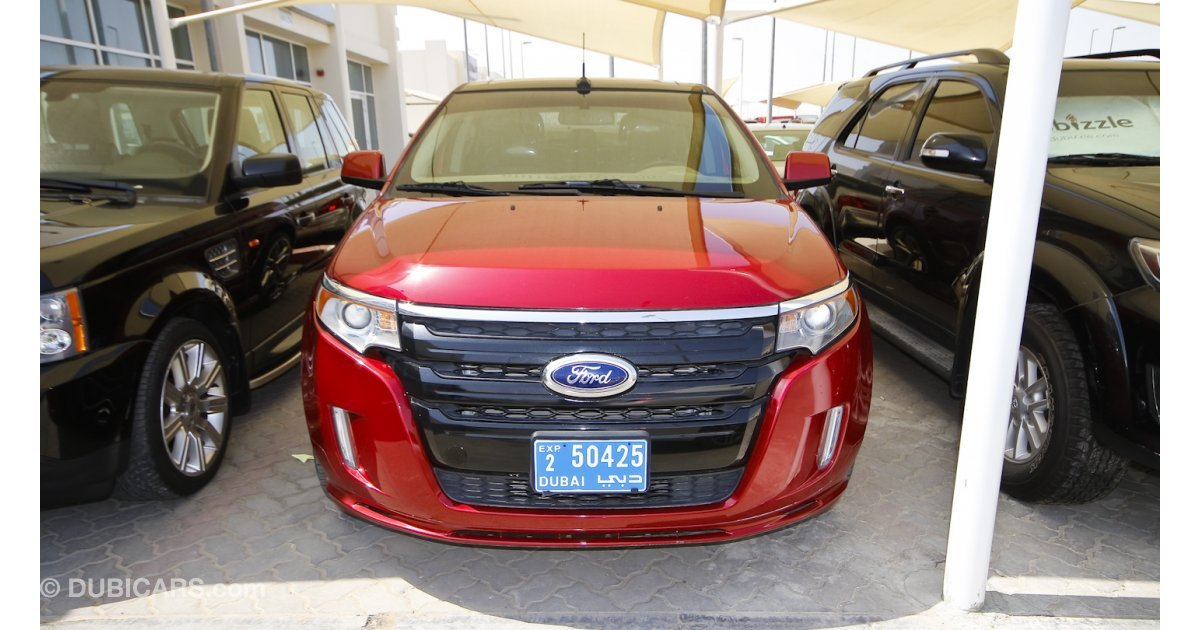 ford edge sport awd for sale aed 55 000 red 2013. Black Bedroom Furniture Sets. Home Design Ideas