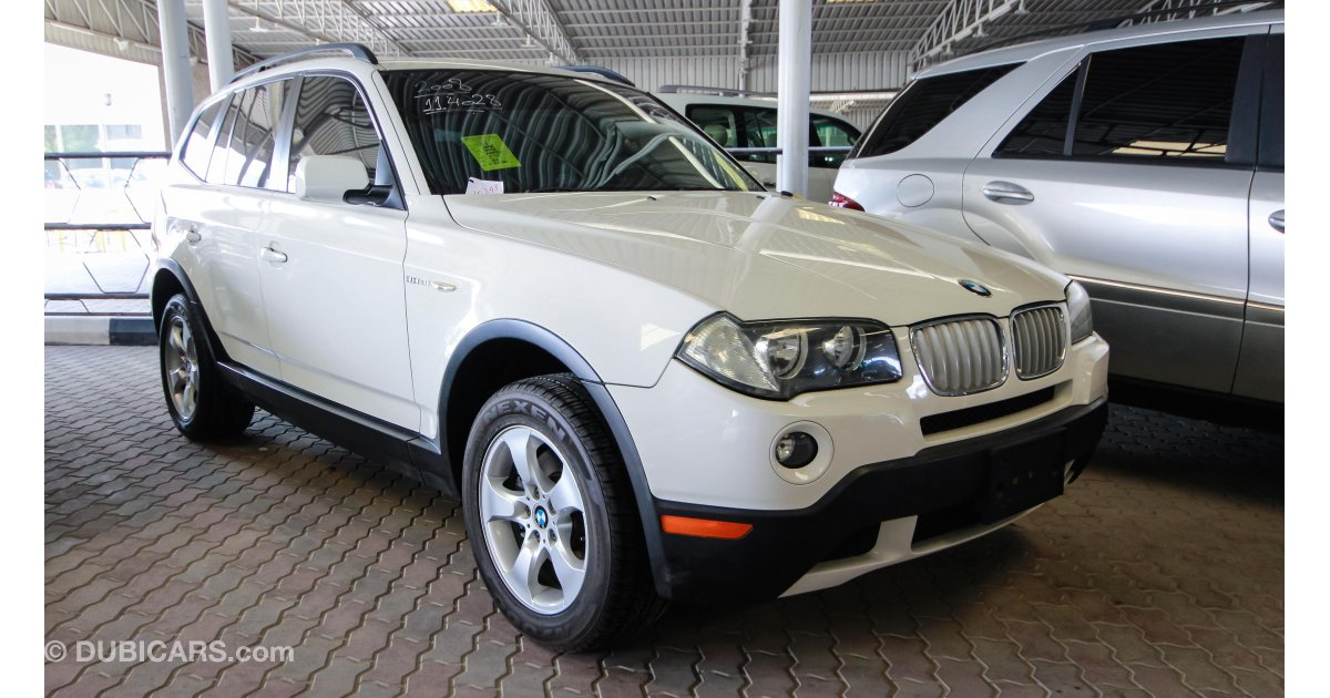 bmw x3 3 0 for sale aed 36 000 white 2008. Black Bedroom Furniture Sets. Home Design Ideas