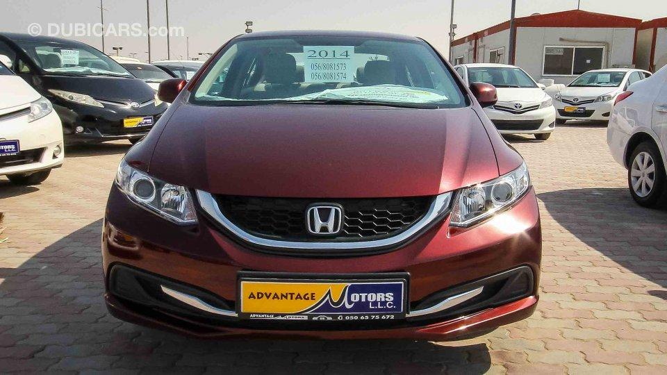 Honda civic 1 8 i vtec for sale aed 36 000 burgundy 2014 for Honda civic 99 for sale