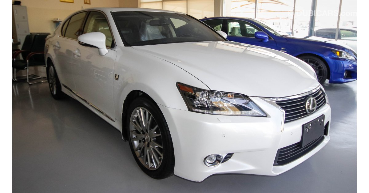 lexus gs 350 for sale aed 165 000 white 2015. Black Bedroom Furniture Sets. Home Design Ideas