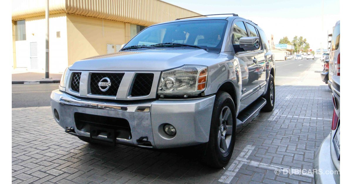 nissan armada le for sale aed 20 000 grey silver 2006. Black Bedroom Furniture Sets. Home Design Ideas
