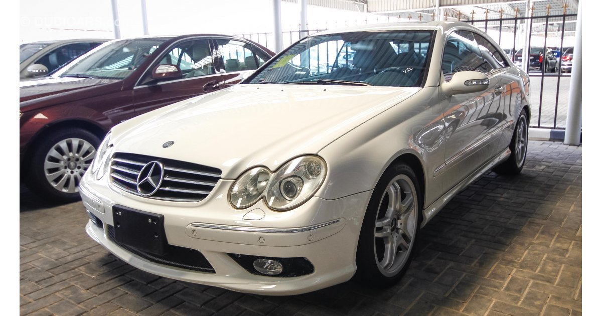 Mercedes benz clk 55 amg for sale aed 42 000 white 2003 for Mercedes benz clk500 for sale