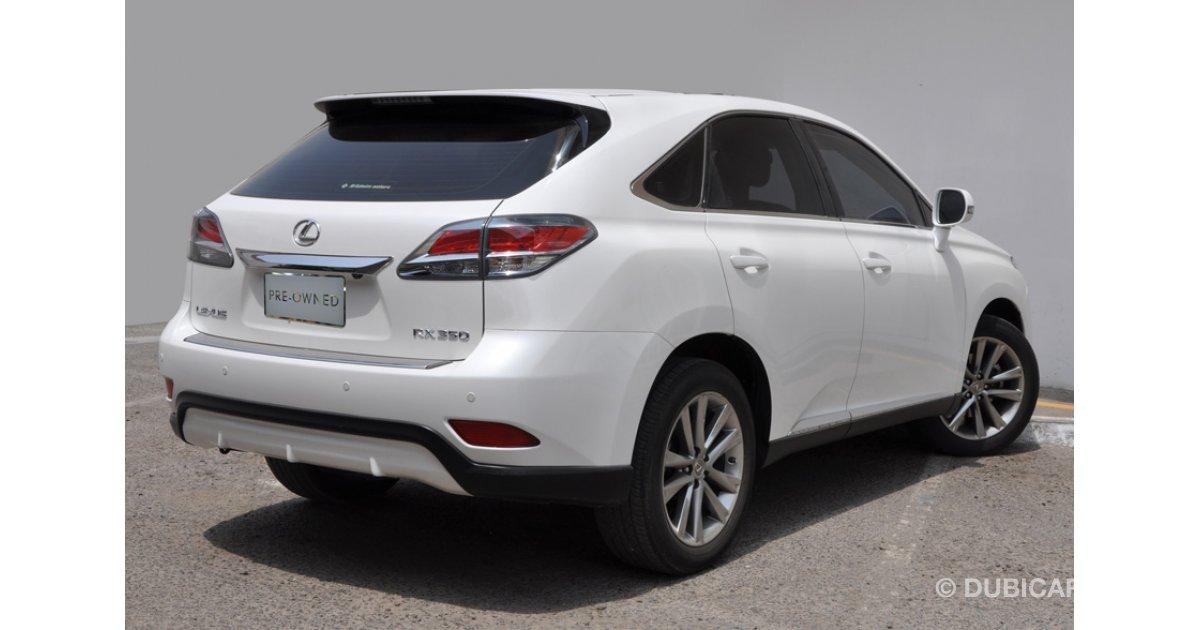 Lexus rx 350 3 5l at platinum for sale aed 149 900 white for Lexus motors for sale