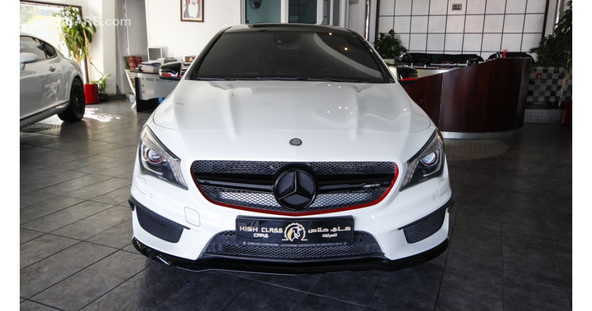 mercedes benz cla 45 amg 4 matic for sale aed 240 000 white 2015. Black Bedroom Furniture Sets. Home Design Ideas