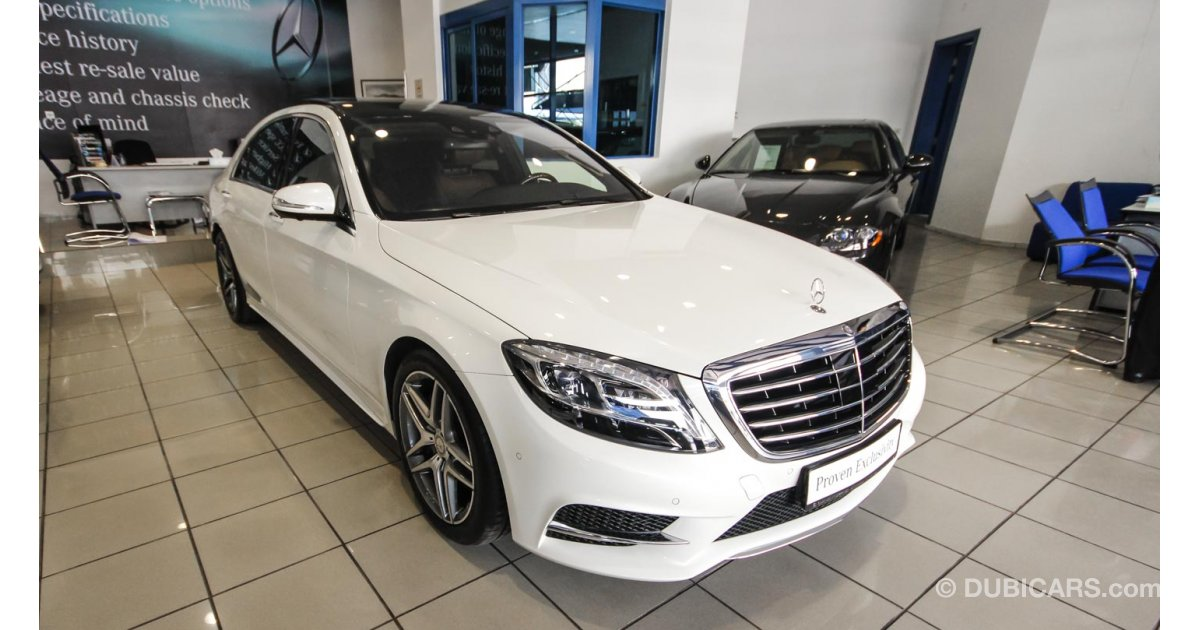 Mercedes benz s 400 amg for sale aed 449 000 white 2015 for Mercedes benz roof box 400