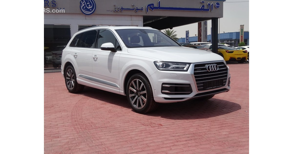 audi q7 45 tfsi for sale aed 225 000 white 2016. Black Bedroom Furniture Sets. Home Design Ideas