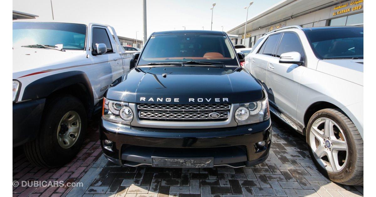 land rover range rover sport supercharged v8 for sale aed 100 000 black 2010. Black Bedroom Furniture Sets. Home Design Ideas