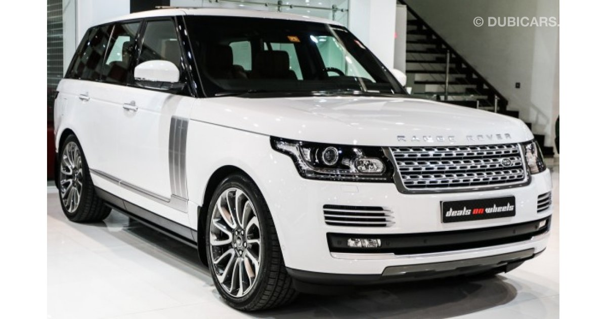 land rover range rover vogue autobiography autobiography for sale aed 529 000 white 2015. Black Bedroom Furniture Sets. Home Design Ideas