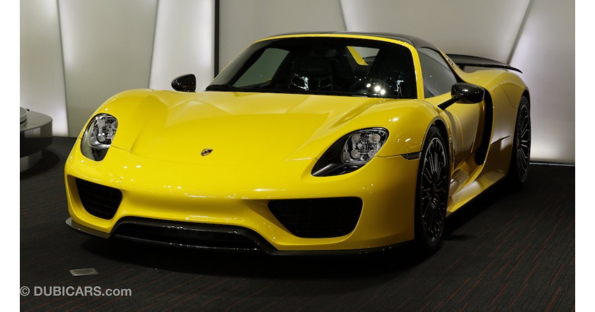 porsche 918 spyder for sale yellow 2015. Black Bedroom Furniture Sets. Home Design Ideas