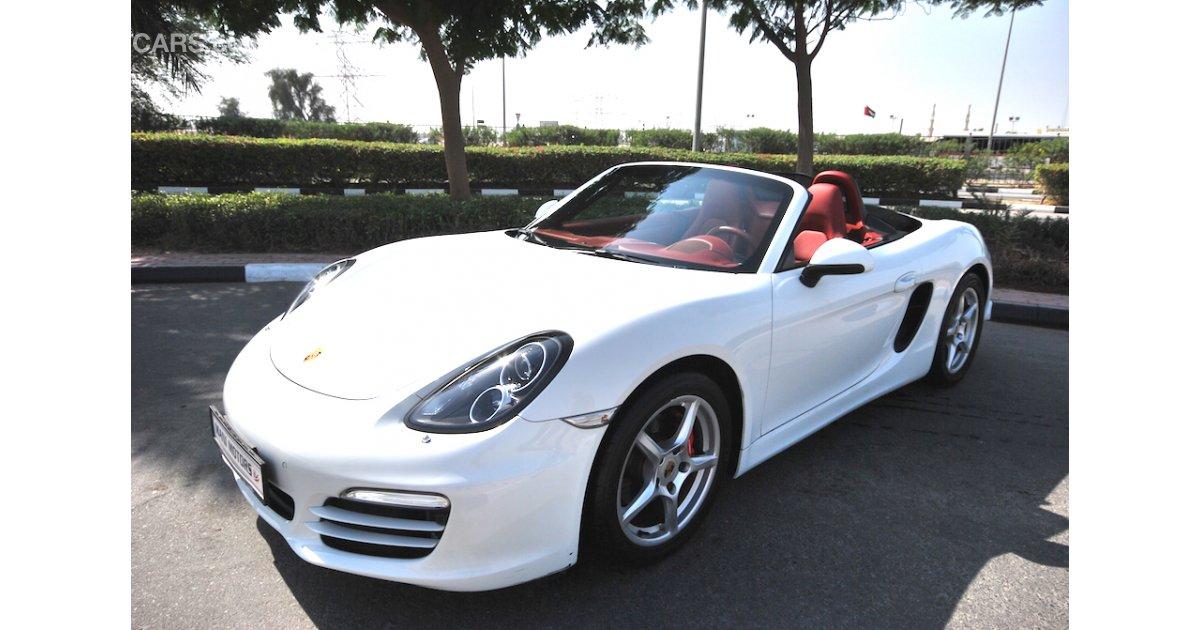 Porsche Boxster 2014 White Porsche Boxster - PORS...