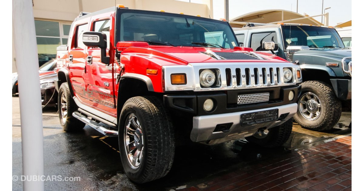 hummer h2 sut for sale aed 40 000 red 2004. Black Bedroom Furniture Sets. Home Design Ideas